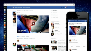 Facebook press conference - new newsfeed