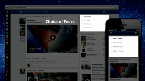 Facebook new newsfeed - choice of feeds