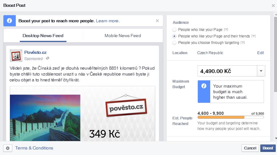 Facebook cílení reklamy na přátelé fanoušků docela tlačí, neskočte mu na špek.