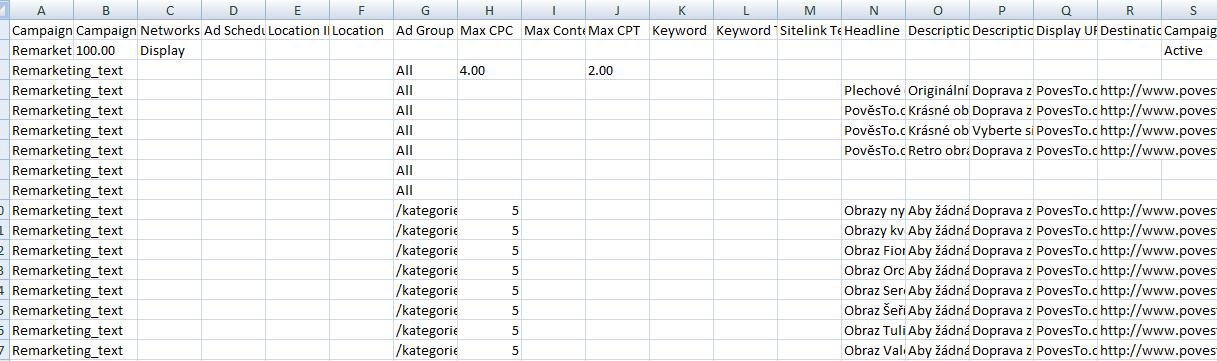 Do CSV z Skliku přidám nové sestavvy, inzeráty a seznamy